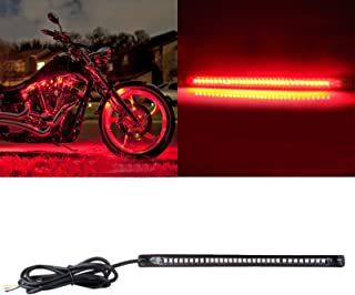 OCPTY Motorcycle Turn Signal Light 18CM Yellow Light Bar Reverse Lights Replacement fit for Car RV SUV Motorcycle Bike ATV, Brake/Running Tail Light,1Pack