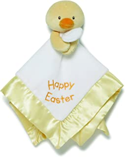 GUND Baby Lovey Plush Stuffed Animal Blanket, Yellow Happy Easter Chick, 12