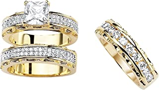 gold wedding rings sets for him and her