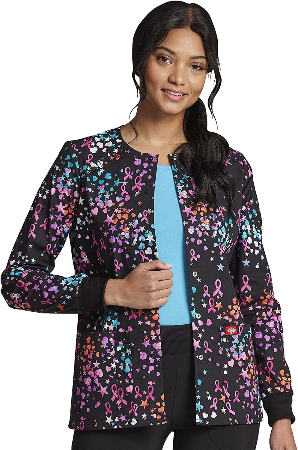 Dickies Women's Snap Front Warm-up Jacket: Clothing, Shoes & Jewelry