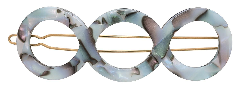 Classic France Luxe Triple Circle Tige - Boule South New color Sea Barrette