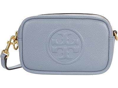 Tory Burch Perry Bombe Mini Bag (Cloud Blue) Handbags