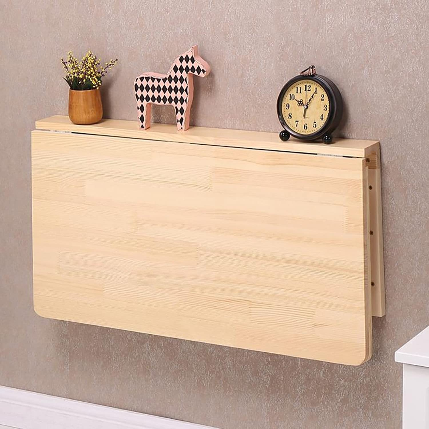 ZJM- Wood Wall Hanging Folding Table Wall Mounted Side Table Kitchen Dining Table Computer Desk (Size   10040cm)