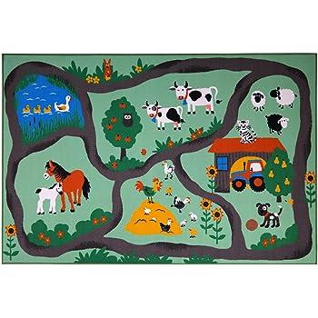 andiamo Tappeto Fattoria, Tappeto da Gioco per Bambini, Colore:Bunt, Taglia:160 x 230 cm