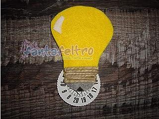 Disco Orario per auto lampadina - idea regalo simpatica uomo donna