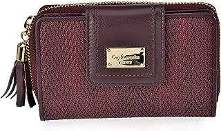 Guy Laroche 7325 Women's Medium Braided Wallet, Burgundy (Red) - 7325