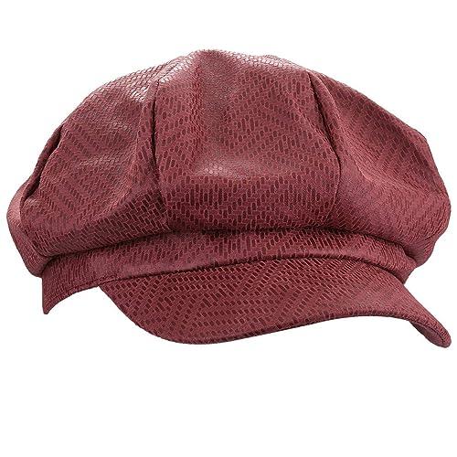 Red Leather Caps  Amazon.com d721e578c6d3