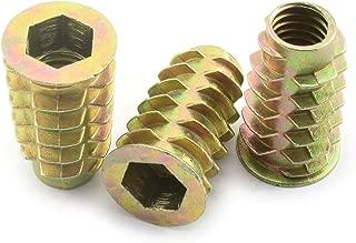 LQ Industrial 25pcs 5/16-18x1 Inch Furniture Screw-in Nut Zinc Alloy Bolt Fastener Connector Hex Socket Drive Threaded Insert Nuts for Wood Furniture 25mm