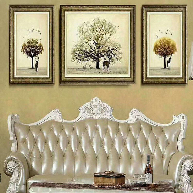 auténtico ZSH Pintura Decorativa Decorativa Decorativa en Relieve Tres Pinturas de la Sala de EEstrella Hotel Hotel Pintura,Do,52  72 + 72  92  envio rapido a ti