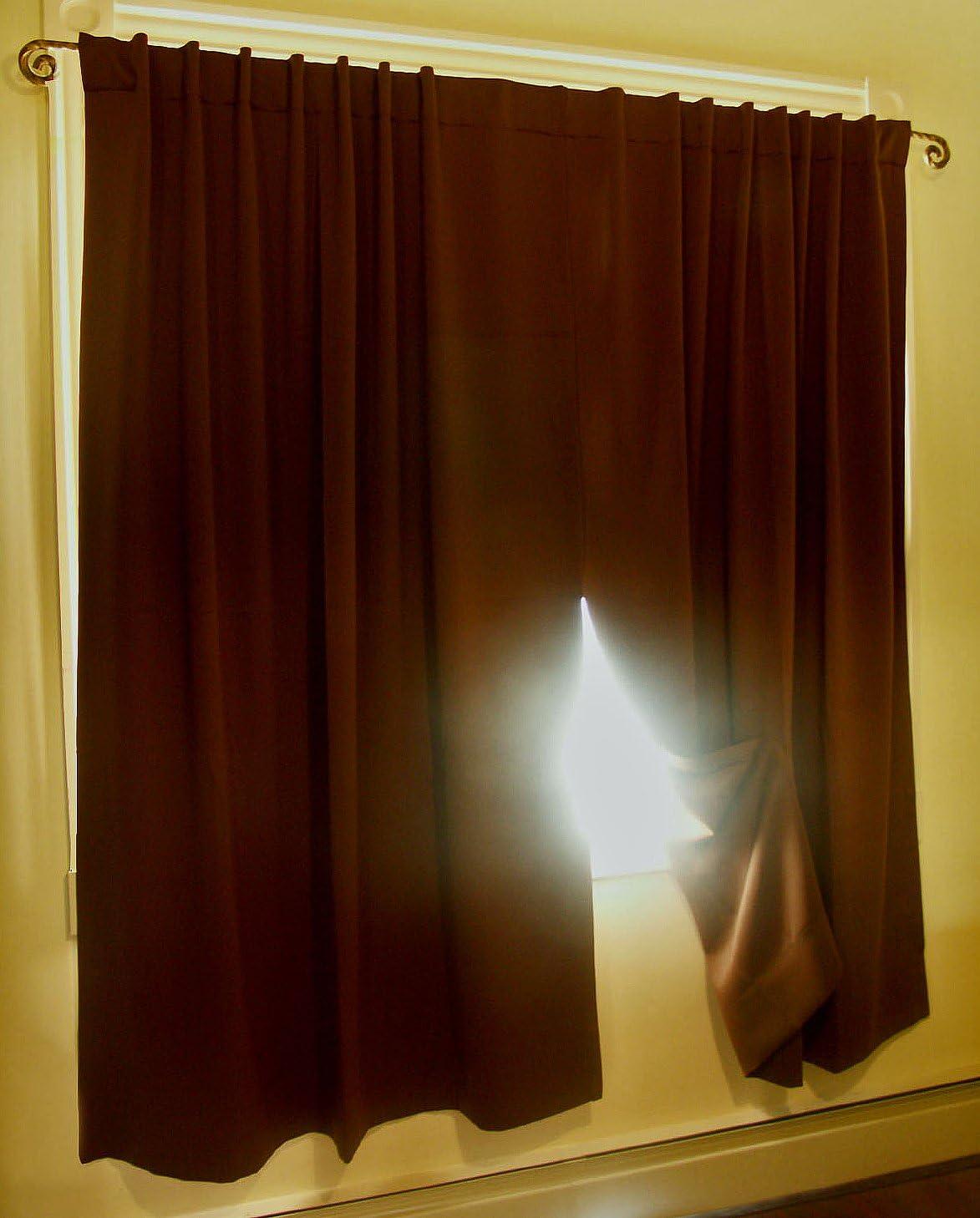 Ricardo Ultimate Blackout Curtain 贈答 送料無料/新品 Panel x Espresso 56