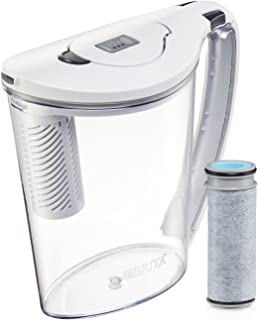 Brita Large 10 Cup Stream Filter as You Pour Water Pitcher with 1 Filter, Hydro, BPA Free, Available in Multiple Colors