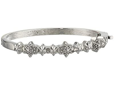 Vince Camuto Small Button Hinge Bracelet (Rhodium/Crystal) Bracelet