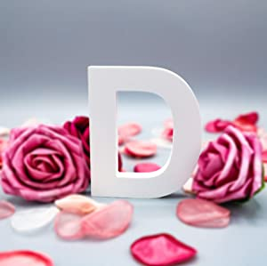 Multiple Sizes Decorative Free-Standing Alphabet Letters for Children Kids Bedroom Wedding Birthday Party Home Decor (D, 4inch / 10.16cm)