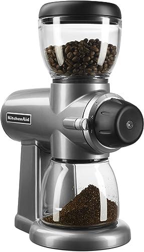 new arrival KitchenAid 2021 KCG0702CS Burr online sale Coffee Grinder, Contour Silver sale