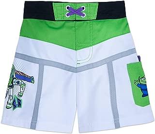 Disney Buzz Lightyear Swim Trunks for Kids White