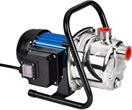 FLUENTPOWER 1 HP Portable Stainless Steel Lawn Sprinkling Pump, Electric Water Pump Shallow Well Sump Booster Pump with 1