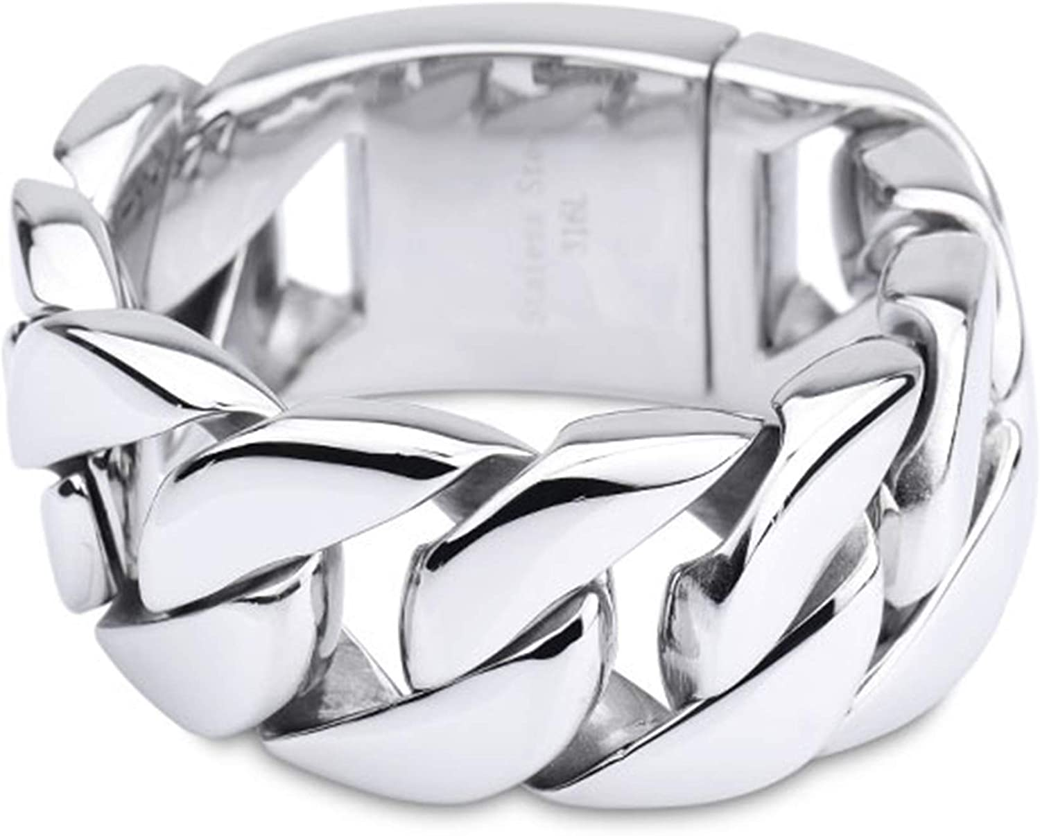 Daesar Men Bracelet Stainless Steel Limited price Directly managed store sale Wide C Silver Bracelets Curb