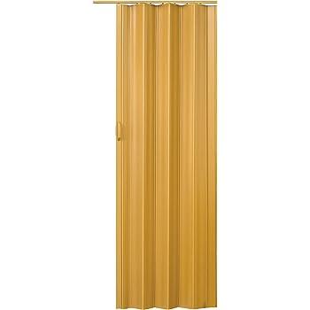 Puerta Plegable de PVC - Ancho 82cm / Alto 203cm, Efecto Madera ...