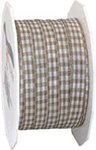 Präsent 10 mm 20 m VICHY - geruit tape, taupe