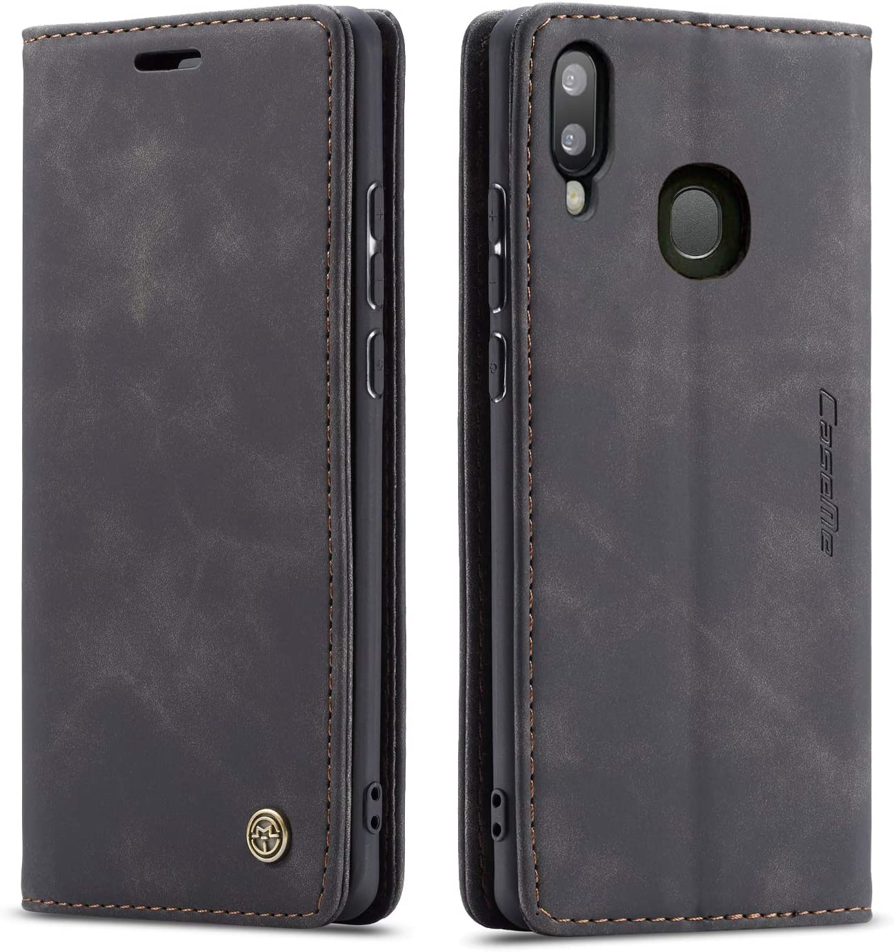 Galaxy A20 Case,Galaxy A30 Case,Bpowe Leather Wallet Case Classic Design with Card Slot and Magnetic Closure Flip Fold Case for Samsung Galaxy A20/Galaxy A30 (Black)