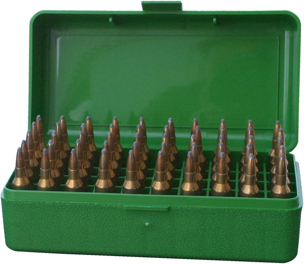 MTM 50 Round Flip-Top Rifle Ammo Box .22-250 to 7.62 X 39