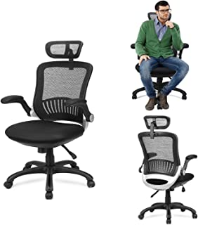 Ergonomic Office Chair - Ergousit Mesh Desk Chair with Adjustable Backrest and Flip up Armrest, Rolling Office Chair with ...