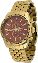 Oniss #ON8289-MG Men's Gold Stainless Steel Brown MOP Dial Chronograph Watch