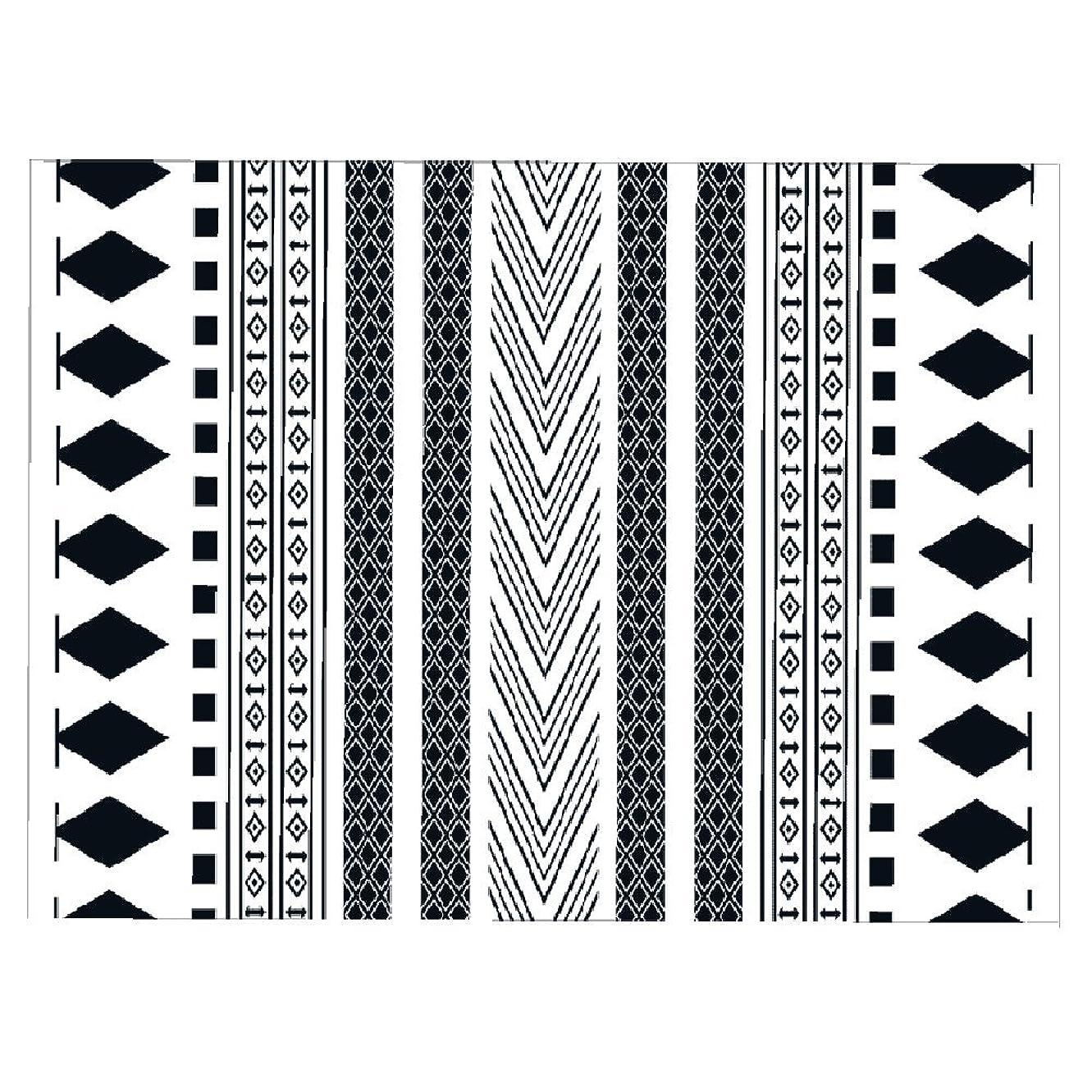 コンパニオン空洞お母さんMariny 黒と白のシンプルなノンスリップファブリックソフト洗濯可能なバスルームのドアマットリビングルームコーヒーテーブルベッドルームのベッドサイドカーペット (サイズ さいず : 180 * 250cm)