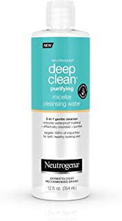Neutrogena Deep Clean Gentle Purifying Micellar Water and Cleansing Water-Proof Makeup Remover, 12 fl. oz