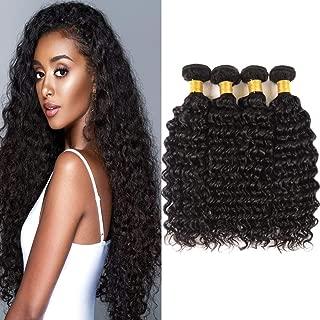 Huarisi Pelo brasileño Grado 7a Deep Wave 4 Bundles 22 24 26 28 Pulgadas Cabello humano virgen sin procesar largo Extensiones de cabello doble trama
