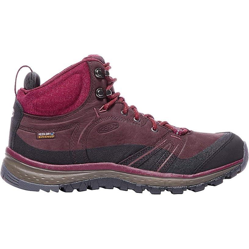 恵みロゴ孤児Keen(キーン) レディース 女性用 シューズ 靴 ブーツ ハイキングブーツ Terradora Leather Mid Waterproof - Wine/Rododendron [並行輸入品]