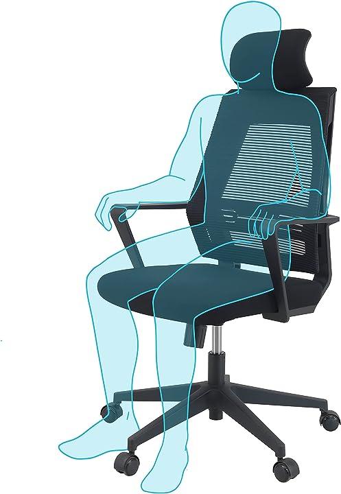 Sedia da ufficio ergonomica + cuscino e tessuti morbidi + poltrona ufficio con poggiatesta sedia pc klim k300 B082GPY413