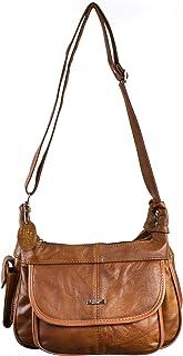 Ladies Leather Shoulder Bag / Handbag with Mobile Phone Pocket. ( Black / Brown / Fawn / Tan / Beige )