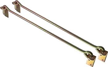 ALPENSTAHL Stormhaken metalen raamhaken met oogplaat voor zware deuren   vergrendeling met lengte: 590 mm   haak gegalvani...