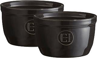 Emile Henry Black Ramekin, 10cm, Set of 2