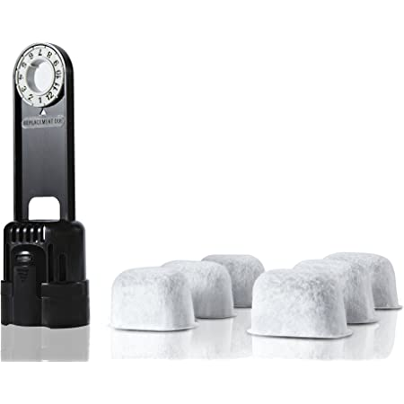 Amazon Com 6 Pack Replacement Charcoal Water Filter Cartridges With Starter Kit Combo For Keurig Single Brewing System And Some Models Of Breville By Geesta Kitchen Dining