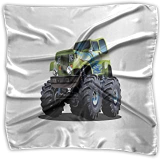 Bandana Head and Neck Tie Neckerchief,Cool Monster Truck Boyhood Dreams Giant Wheels Off Road Vehicle,Headband