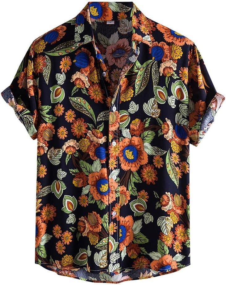 WPYYI Summer New sales Men Shirts Fashion shopping Hawaiian Blouse C Male Shirt Top