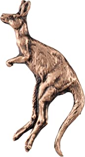 Creative Pewter Designs Kangaroo Mammal Copper Plated Lapel Pin, Brooch, Jewelry, MC156