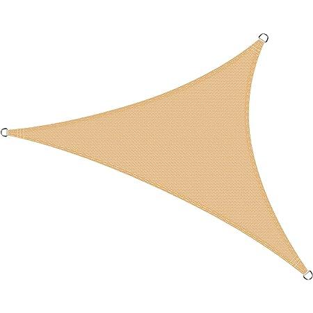 SUNNY GUARD Tenda a Vela Triangolare 5x5x5m Antivento Impermeabile Protezione Raggi UV per Giardino terrazza Campeggio Sabbia