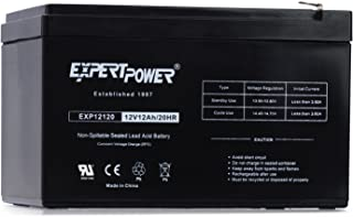 ExpertPower 12V 12AH Sealed Lead Acid (SLA) || LW-6FM12S, LHR12-12, HR1251W, GPS12-12F2 and BP12-12 Replacement Battery Black EXP1212