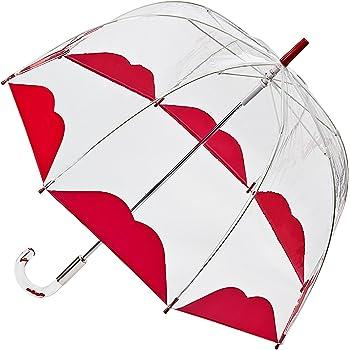 フルトン x ルルギネス 傘 Lulu Guinness x FULTON コラボ バードケージ ハーフリップ 透明 長傘