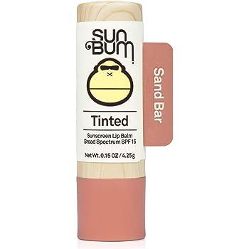 Sun Bum Tinted Lip Balm Sand Bar | SPF 15 | UVA / UVB Broad Spectrum Protection | Sensitive Skin Safe | Hypoallergenic,Paraben Free | Ozybenzone Free | 0.15 Oz