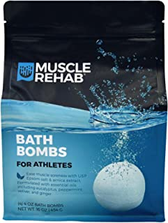Sponsored Ad - Muscle Rehab Handmade Bath Bombs for Athletes & Muscle Recovery- Pure Essential Oils, Packed with Muscle Re...