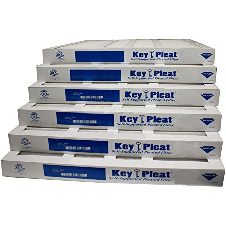 23.38 Width Pack of 6 23.38 Height 3.75 Thick 23.38 Width 23.38 Height Mechanical MERV 8 3.75 Thick Sterling Seal KP-5251504837 Purolator Key Pleat Extended Surface Pleated Air Filter Pack of 6