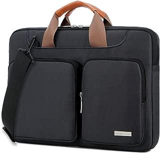 Lacdo 15.6 Inch Laptop Shoulder Bag, 360° Protective Sleeve Case Compatible 15.6