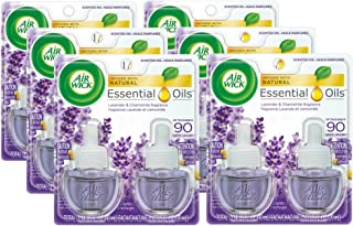 Air Wick plug in Scented Oil 12 Refills, Lavender & Chamomile, (6x2x0.67oz), Essential Oils, Air Freshener