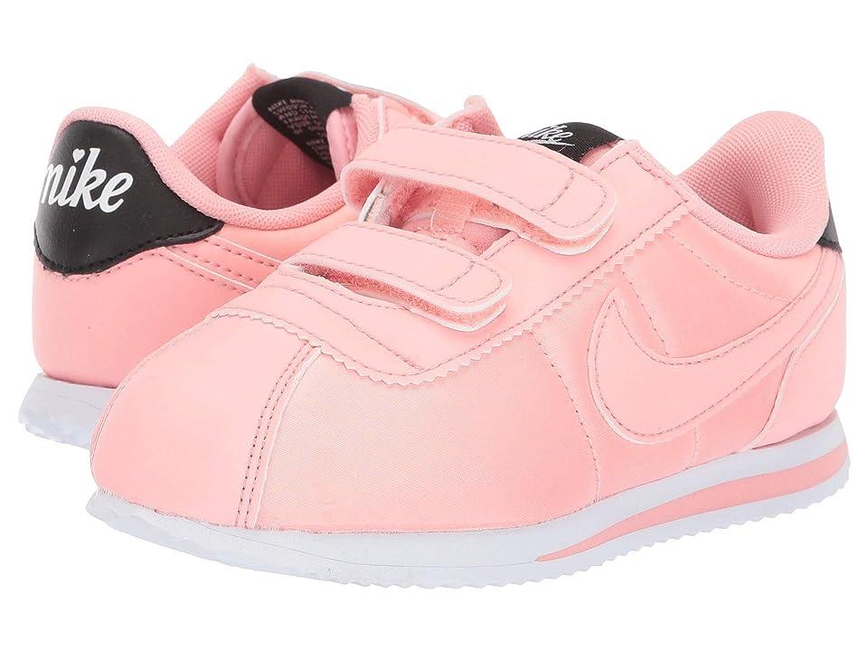 Nike Kids Cortez Basic TXT V-Day (Infant/Toddler) (Bleached Coral/Bleached Coral/Black) Girls Shoes