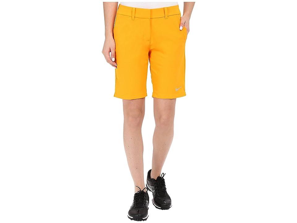 Nike Golf Bermuda Shorts Solid (Vivid Orange/Metallic Silver) Women
