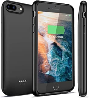 iBatrycas iPhone 7 Plus / 8 Plus Battery Case, 5500mAh Rechargeable Charging Case Charger for Apple 8 Plus / 7 Plus, Best Extended Power Backup Case Juice (Compatible Lightning Headphones)